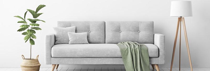 Décoration de canapé