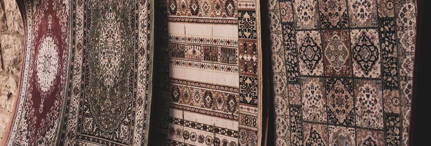 Différents tapis ethniques